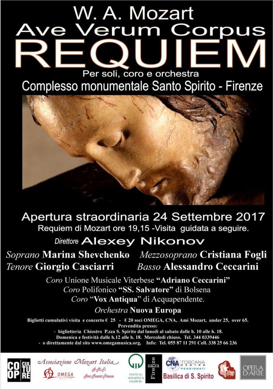 FIRENZE: ave verum corpus REQUIEM K626 – W.A.MOZART 24 settembre 2017