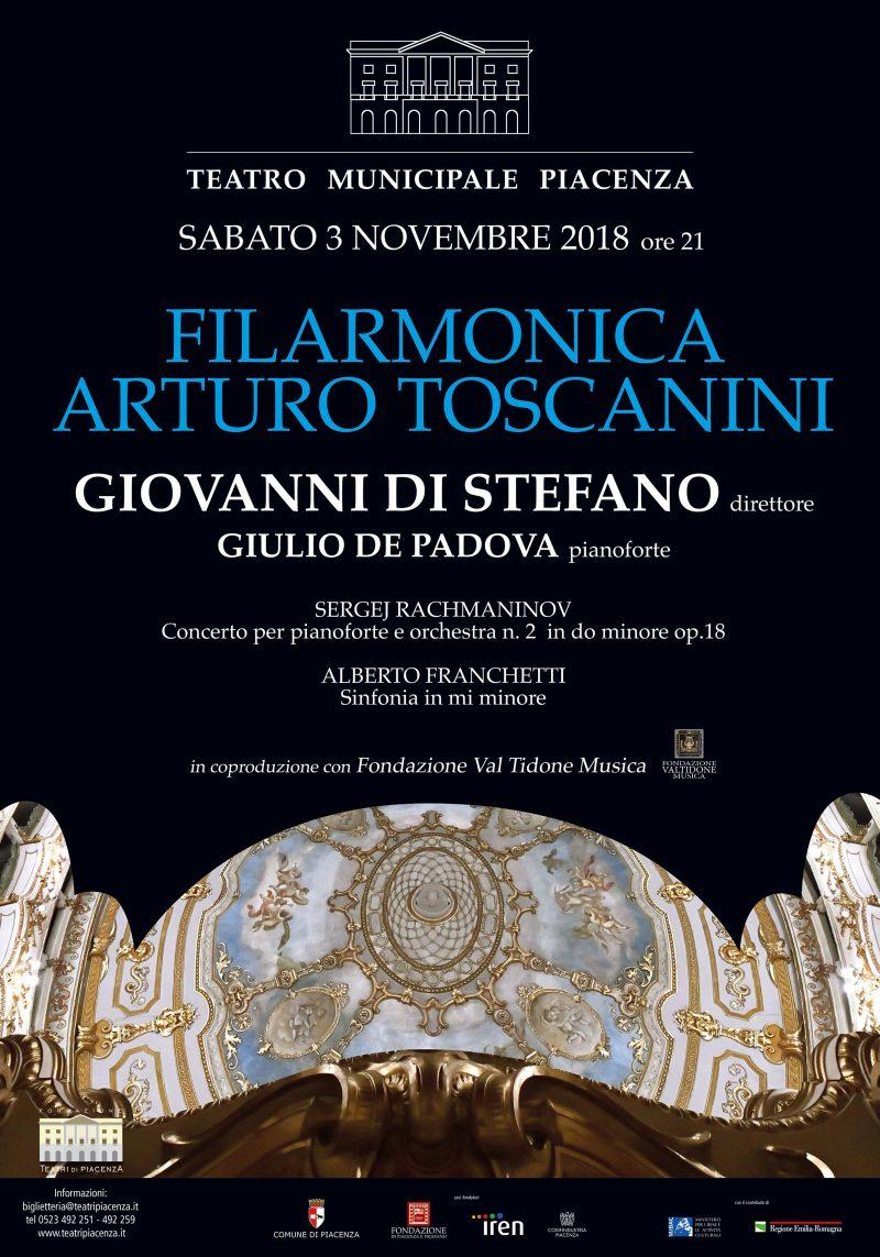 Al via sabato 3 novembre la Stagione concertistica 2018/2019  del Teatro Municipale di Piacenza